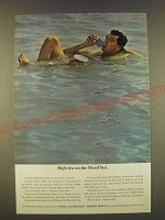 1963 Israel Government Tourist Office Ad - High tea on the Dead Sea
