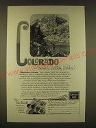 1963 Burlington Route Train Ad - Colorado America's Vacation Paradise