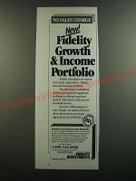 1986 Fidelity investments Ad - No sales charge
