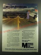 1986 Monroe Systems for Business Ad - We won't abandon you