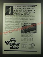 1986 The Company Store Square Stitch Down Comforter Ad - Exceptional quality