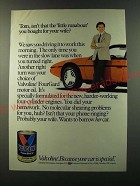 1986 Valvoline motor Oil Ad - Tom, isn't that the little runabout
