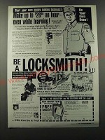 1986 Foley Belsaw Institute Locksmithing Ad - money making