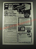 1986 foley Belsaw planer-Molder-Saw Ad - Your home workshop can pay off