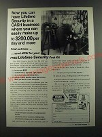 1986 Foley Belsaw Ad - Now you can have lifetime security in a cash business