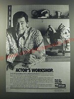 1986 Ryobi Power Tools Ad - Clint Walker - Actor's Workshop