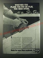 1986 Ryobi Planers Ad - Whether you plane for pay or play, you need Ryobi