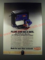 1986 Ryobi AP-10 Planer and JSE-60 Jig Saw Ad - Plane Jane has a date