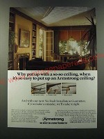 1986 Armstrong Ceiling Tiles Ad - Why put up with a so-so ceiling