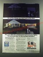 1986 RCA SecuritySwitch Ad - For all the things you don't see in the dark