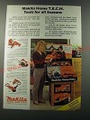 1986 Makita Home T.E.C.H. Power Tools Ad - M901 Sander, M001 Drill