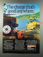 1986 Honda EX1000 Portable Generator Ad - The charge that's good anywhere
