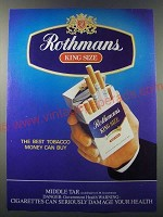 1986 Rothmans King Size Cigarettes Ad - The best tobacco money can buy