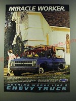 1986 Chevy Pickup Truck Ad - Miracle Worker