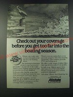 1986 Allsate Bank Ad - Check out your coverage before you get too far