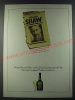 1986 Croft Original Sherry Ad - George Bernard Shaw rarely allowed anything