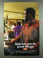 1986 Dow Chemical Ad - They even paid for his books and tuition