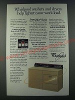 1986 Whirlpool Washer and Dryer Ad - Lighten Your Work Load