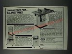 1986 Foley Belsaw Ad - 490 Table Saw, 480 Bandsaw, 435 Scroll Saw