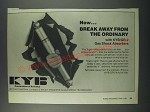 1986 KYB GR-2 Gas Shock Absorbers Ad - Now break away from the ordinary