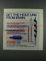 1986 Irwin Ad - Masonry Bit, Bi-Metal Hole Saw, Steelbor Twist Drill