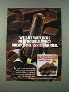 1986 Weight Watchers Double Fudge Ad - Double fudge break