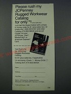1986 JCPenney Rugged Workwear catalog Ad - Please rush