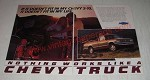 1986 Chevy S-10 Pickup Truck Ad - If it doesn't fit in my Chevy S-10