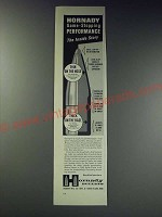 1963 Hornady Bullets Ad - Hornady game-stopping performance