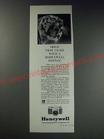 1963 Honeywell Pentax Camera Ad - Hold that tiger with a Honeywell Pentax