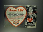 1963 Red Heart Dog Food Ad - Save 25¢