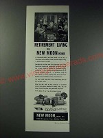 1963 New Moon Home Ad - Discover the joys of carefree retirement living
