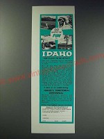 1963 Idaho State Department of Commerce and Development Ad - Go where the fun is