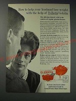 1963 General Foods D-Zerta Gelatin Ad - How to help your husband lose weight