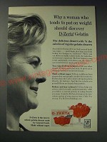 1963 General Foods D-Zerta Gelatin Ad - Why a woman who tends to put on weight