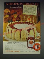 1963 Ann Page Strawberry Preserves Ad - Bakeless Wonder recipe