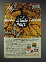 1963 McCormick-Schilling Spices Ad - Make your chicken different… 4 tasty ways!
