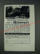 1963 Missouri Division of Commerce & Industrial Development Ad - Sightseeing?