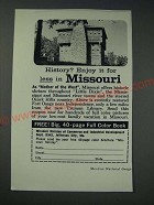 1963 Missouri Division of Commerce & Industrial Development Ad - History?