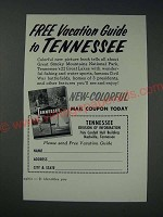 1963 Tennessee Tourism Ad - vacation guide to Tennessee