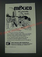 1963 Mexican Government Tourism Department Ad - The friendly land
