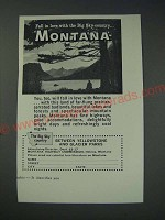 1963 Montana Tourism Ad - Fall in love with the Big Sky country… Montana