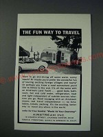 1963 Airstream Land Yacht Trailer Ad - The fun way to travel
