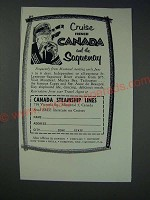 1963 Canada Steamship Lines Ad - Cruise French Canada and the Saquenay