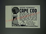 1963 Cape Cod, Massachusets Tourism Ad - Discover incomparable Cape Cod