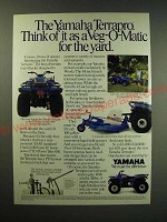 1987 Yamaha Terrapro Ad - Think of it as a Veg-O-Matic for the Yard