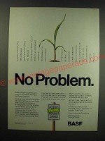 1987 BASF Poast Herbicide Advertisement - No problem