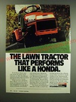 1987 Honda Lawn Tractor Ad - The lawn tractor that performs like a Honda