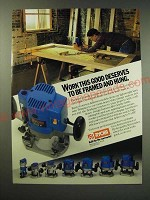 1987 Ryobi Routers Ad - Work this good deserves to be framed and hung