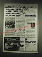 1987 Foley-Belsaw Institute Ad - Get in on the profits in small engine service